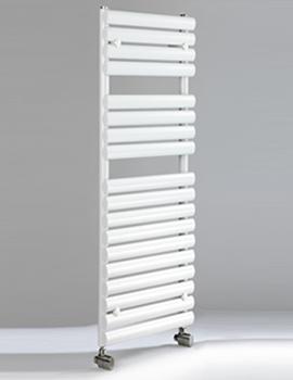 Cove TR 500 x 826mm Oval Tubes Heated Towel Rail - White