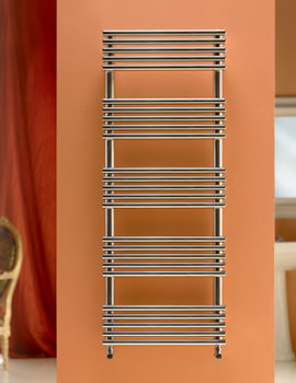 Related DQ Heating Sandy Polished Stainless Steel Heated Towel Rail 400 x 1715mm