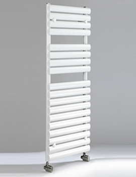 Cove TR 500 x 1475mm Oval Tube Heated Towel Rail - White