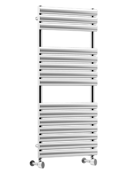 Cove STR 500 x 826mm Polished Stainless Steel Heated Towel Rail