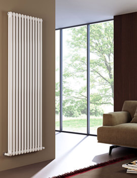 DQ Heating Modus 2 Column 500mm High White Radiator - 4 To 44 Sections