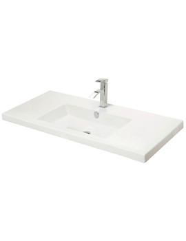 800mm Rectangular Bowl White Ceramic Basin - 111W1