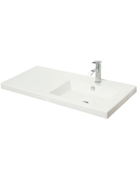 1000mm Right Hand Rectangular Bowl White Ceramic Basin