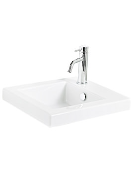 405mm Ceramic Basin With Top Right Hand Corner Tap Hole