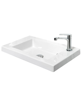 600mm Ceramic Basin With Top Right Hand Corner Tap Hole