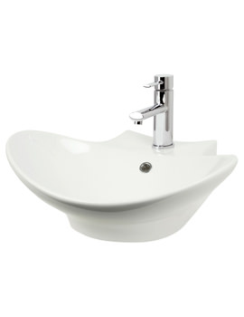 500mm Counter Top Or Wall Hung Ceramic Basin - 116W1