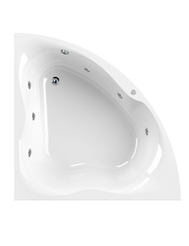 Gloria 1400 x 1400mm 6 Jets Corner Whirlpool Bath