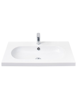 Miller 800mm Oval Bowl Ceramic Basin - 125W1