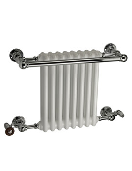 DQ Heating Ashill Traditional Wall Mounted Heated Towel Rail 846mm x 514mm
