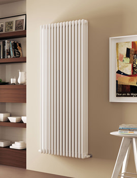 DQ Heating Modus 4 Column 1800mm High White Radiator - 4 To 44 Sections