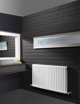 DQ Heating Modus 3 Column 600mm High White Radiator - 4 To 44 Sections