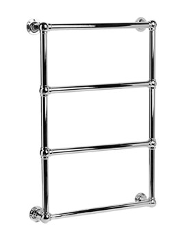 DQ Heating Methwold Wall Mounted Chrome Heated Towel Rail 484mm x 1303mm