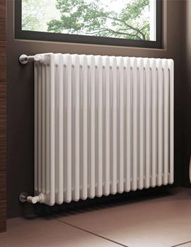 Modus 5 Column White Radiator 600mm High - 4 To 44 Sections