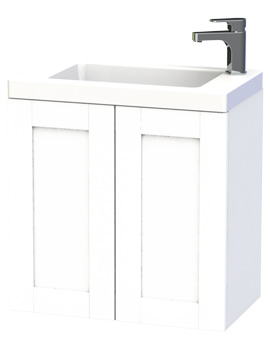 Miller London 60 White Double Door Wall Hung Basin Vanity Unit