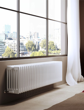 DQ Heating Modus 6 Column 300mm High White Radiator - 4 To 44 Sections