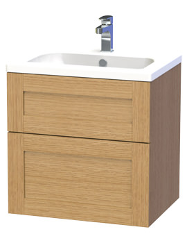 Related Miller London 60 Oak Two Drawer Wall Hung Vanity Unit - 588-5