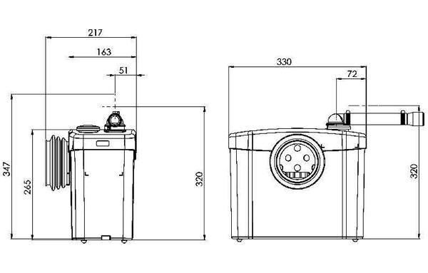 saniflo original macerator pump for wc