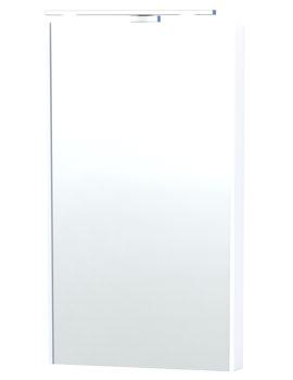 London 40 White Framed Mirror - 59-2