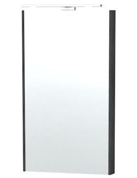 London 40 Black Framed Mirror - 59-4