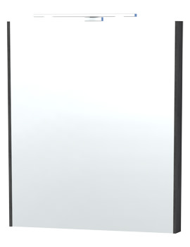 London 60 Black Framed Mirror - 60-4