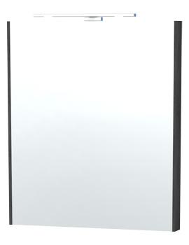 London 60 Black Framed Mirror - 60-4