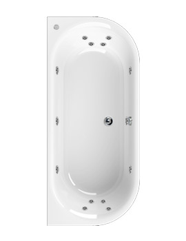 Metauro 1 Bath To Wall 1800 x 800mm 14 Jets Whirlpool Bath