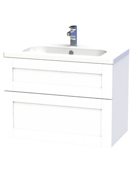 Related Miller London 80 White Two Drawer Wall Hung Vanity Unit - 589-2