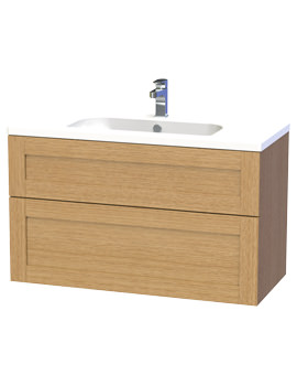 Related Miller London 100 Oak Two Drawer Wall Hung Vanity Unit - 598-5