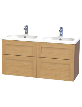 Related Miller London 120 Oak Four Drawer Wall Hung Vanity Unit - 566-5