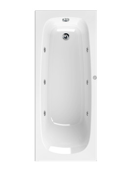 Mercury 1700 x 750mm 6 Jets Whirlpool Bath