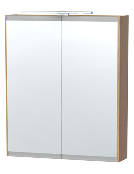 Miller London 60 Oak Double Door Mirror Cabinet 590 x 700mm