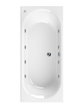 Metauro 3 Double Ended 1800 x 800mm 8 Jets Whirlpool Bath