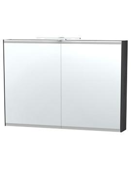 Miller London 100 Black Double Door Mirror Cabinet 990 x 700mm