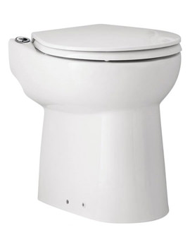 Sanicompact Cisternless Ceramic WC With Macerator Pump