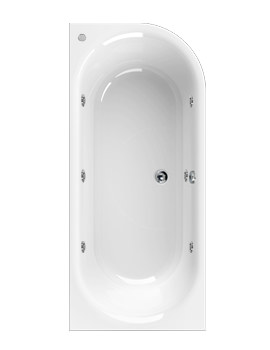 Metauro 2 Left Hand 1800 x 800mm Whirlpool Bath