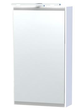 London 40 White Single Door Mirror Cabinet 404 x 700mm