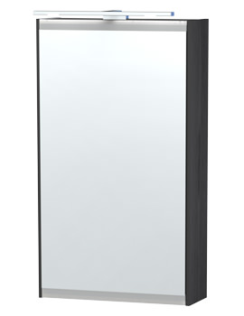 London 40 Black Single Door Mirror Cabinet 404 x 700mm