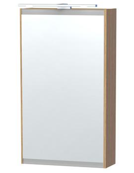 London 40 Oak Single Door Mirror Cabinet 404 x 700mm