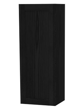 London Black Single Door Storage Cabinet 400 x 1111mm