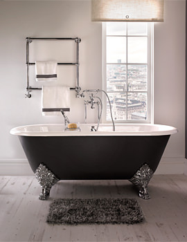 Imperial Roseland 1780mm Cast Iron Bath With Feet - 2 Tap Holes