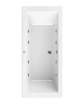 Plane 1700 x 750mm 8 Jets Double Ended Whirlpool Bath