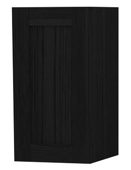 London Black Single Door Storage Cabinet 275 x 590mm