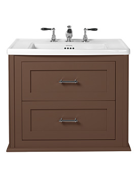 Imperial Radcliffe Thurlstone Wall Hung Vanity Unit London Clay