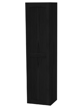 London Black Single Storage Door Tall Cabinet 400 x 1690mm