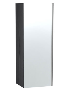 London Black Single Door Mirror Cabinet 400 x 1111mm