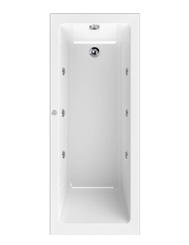 Plane Solo 1800 x 800mm Whirlpool 6 Jets Bath