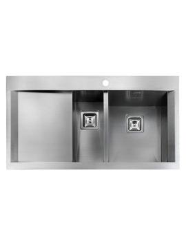 Senator 1.5 Bowl Stainless Steel Kitchen Sink - Left Hand Drainer