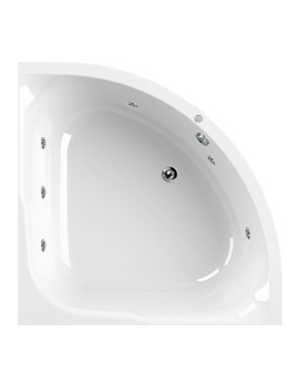 Satellite 1200 x 1200mm 6 Jets Corner Whirlpool Bath