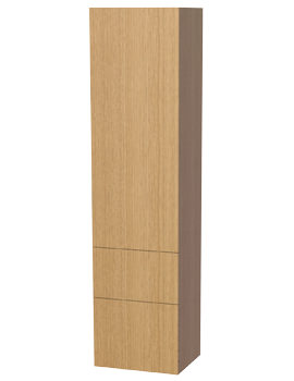 New York Oak 1 Door And 2 Drawer Tall Cabinet 400 x 1690mm