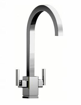 Quadrant Dual Control Monobloc Kitchen Sink Mixer Tap Chrome